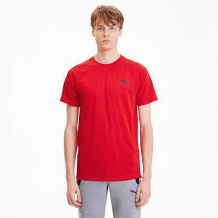 Evostripe Men's Tee, High Risk Red, small