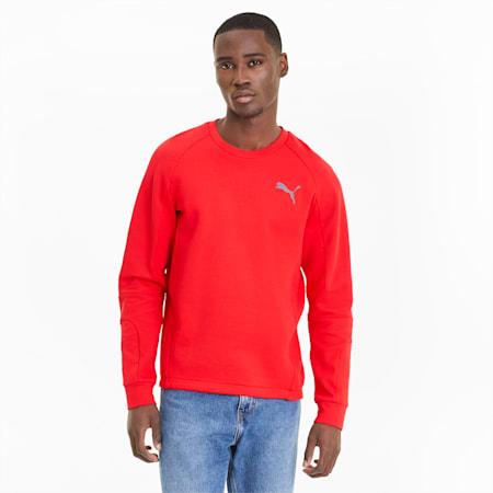 Evostripe Men's Crewneck Sweatshirt, High Risk Red, small