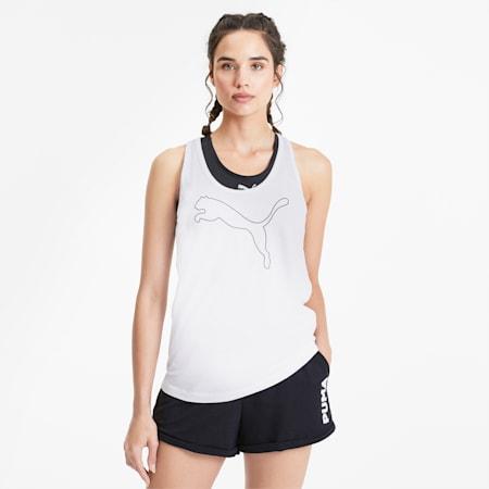 Sleeveless Women's Tank Top, Puma White, small