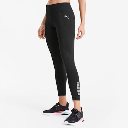 Polyester Women's Training Leggings, Puma Black, small-GBR