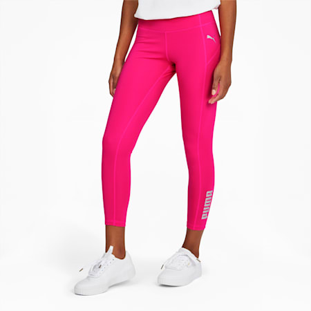 RTG Women's 7/8 Logo Leggings, Glowing Pink, small