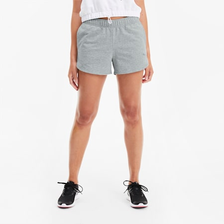 RTG Women's Shorts, Light Gray Heather, small