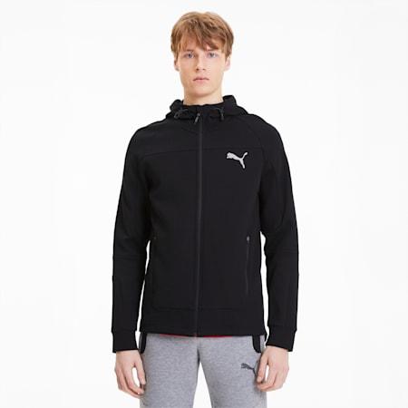 Evostripe Hooded Men's Jacket, Puma Black, small