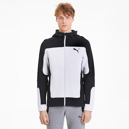 Evostripe Hooded Men's Jacket, Puma White, small