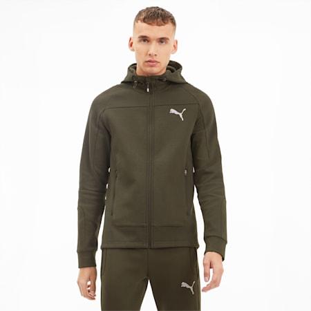 Evostripe Hooded Men's Jacket, Forest Night, small