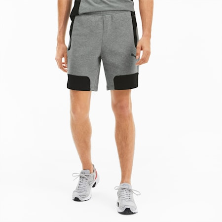 Evostripe Men's Shorts, Medium Gray Heather, small