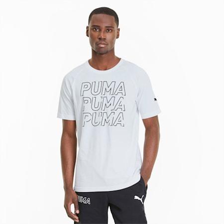 Modern Sports Graphic Men's Tee, Puma White-Puma Black, small-SEA