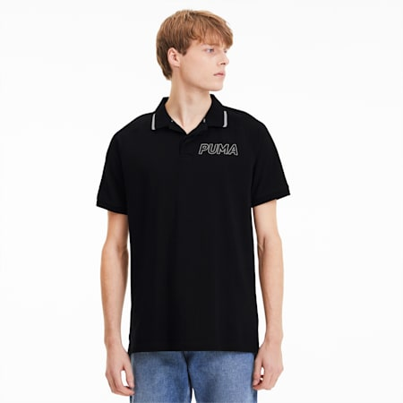 Modern Sports Short Sleeve Men's Polo Shirt, Puma Black, small-SEA