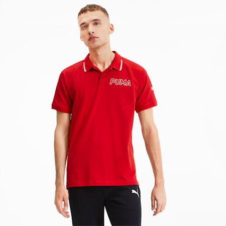 Modern Sports Short Sleeve Men's Polo Shirt, High Risk Red, small-SEA