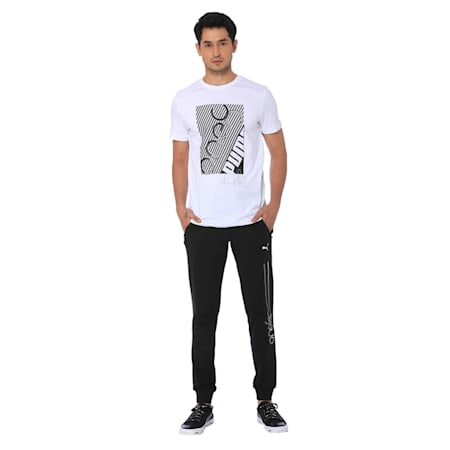one8 Men's Graphic Tee, Puma White, small-IND