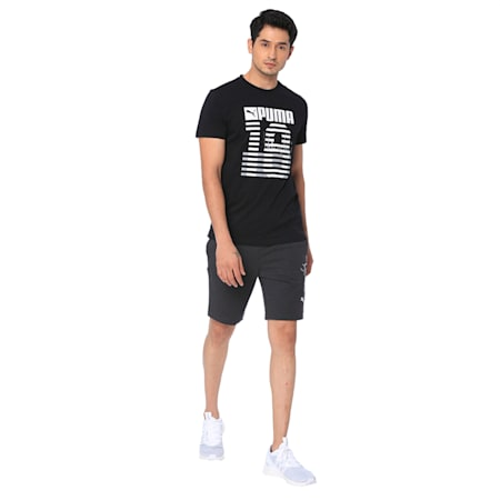 one8 Men's Graphic Tee, Puma Black, small-IND