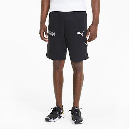Modern Sports Knitted Men's Shorts, Puma Black, small-SEA