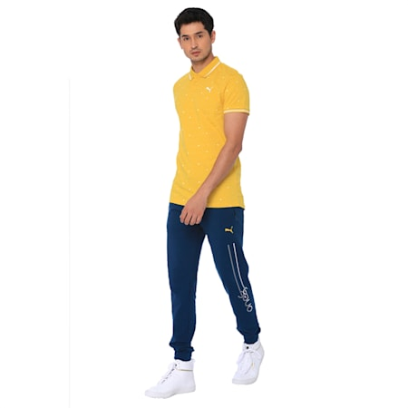 one8 AOP Men's Printed Polo, Sulphur, small-IND
