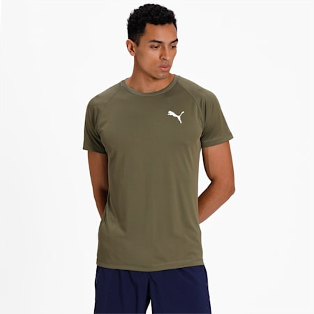 Slim Fit dryCELL Men's Training T-Shirt, Burnt Olive, small-IND