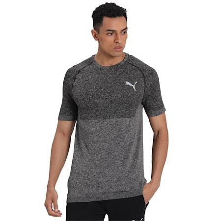 evoKNIT Slim Fit dryCELL Men's T-Shirt, Puma Black, small-IND
