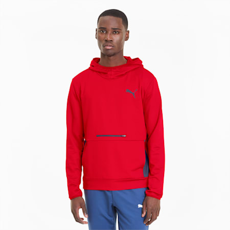 RTG Men's Training Hoodie, High Risk Red, small