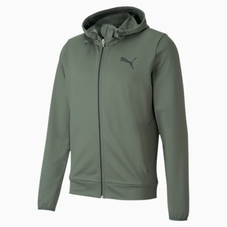 Full Zip dryCELL Men's Hoodie, Thyme, small-IND