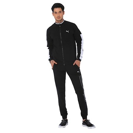 one8 Men's Knitted Track Jacket, Puma Black, small-IND