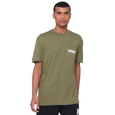 Rebel Men's T-Shirt, Burnt Olive, small-IND