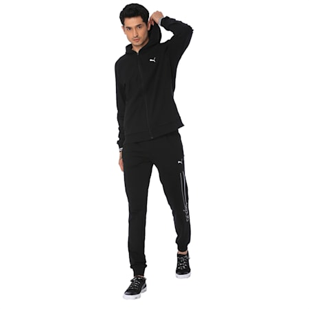 one8 Men's Hooded Track Jacket, Puma Black, small-IND