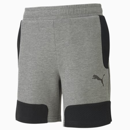Evostripe Shorts, Medium Gray Heather, small-IND