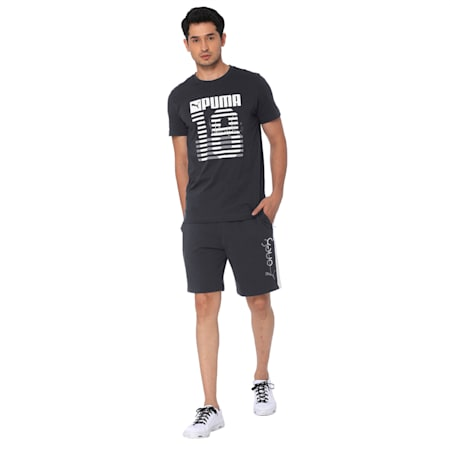 one8 Men's Knitted Shorts, Dark Gray Heather, small-IND