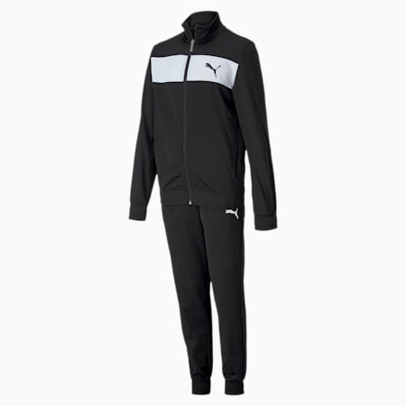 Polyester Boys' Track Suit, Puma Black, small
