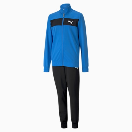 Polyester Boys' Track Suit, Palace Blue, small