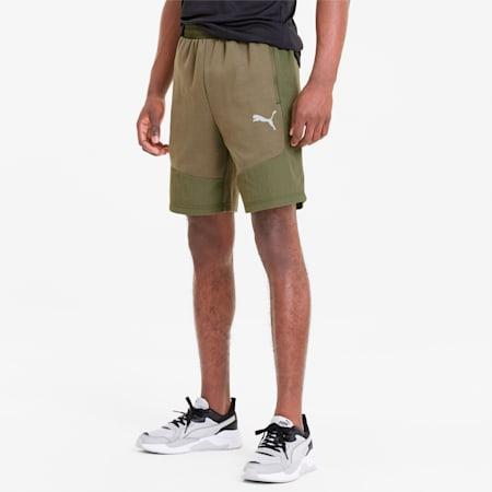 Evostripe Lite Herren Shorts, Burnt Olive, small