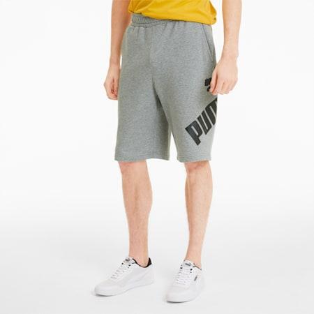 Big Logo Men's Shorts, Medium Gray Heather, small-SEA