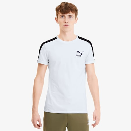 Iconic Slim T7 Men's Tee, Puma White, small