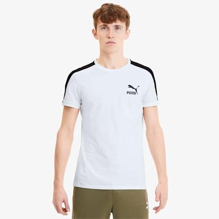 Camiseta icónica de corte ceñidoT7 para hombre, Puma White, pequeño