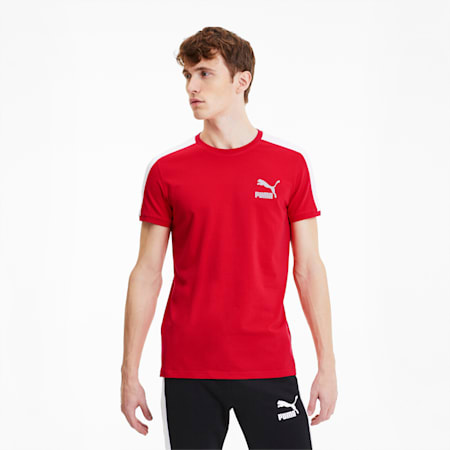 Iconic T7 Men's Slim Tee, High Risk Red, small