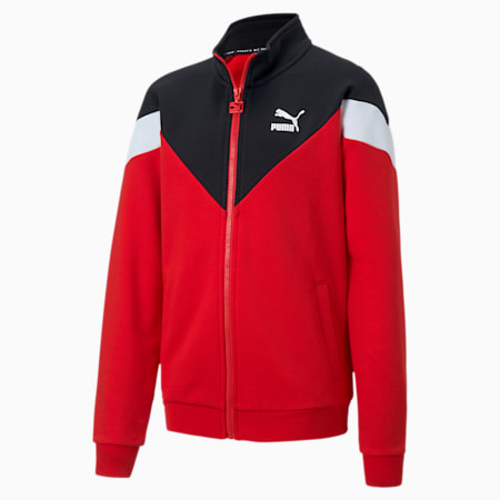 Iconic MCS Boys' Track Jacket, High Risk Red, small