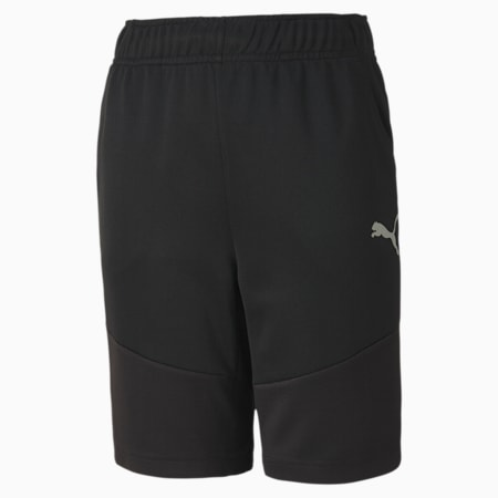 Active Polyester Boys' Shorts, Puma Black, small