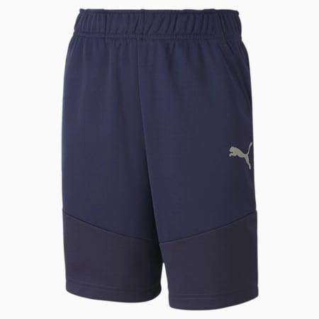Active Polyester Boys' Shorts, Peacoat, small-SEA