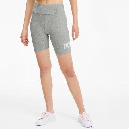 "Essentials+ 7"" Women's Short Tights, Light Gray Heather, small"