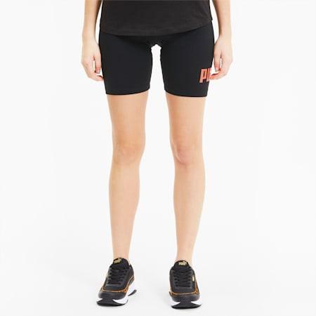 "Essentials+ 7"" Women's Short Tights, Puma Black-Nrgy Peach, small-IND"