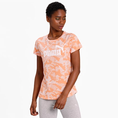 Essentials+ Graphic Women's T-Shirt, Cantaloupe, small-IND