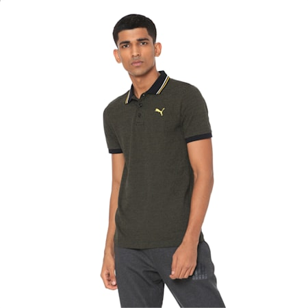 Men's Jacquard Polo 3, Puma Black, small-IND
