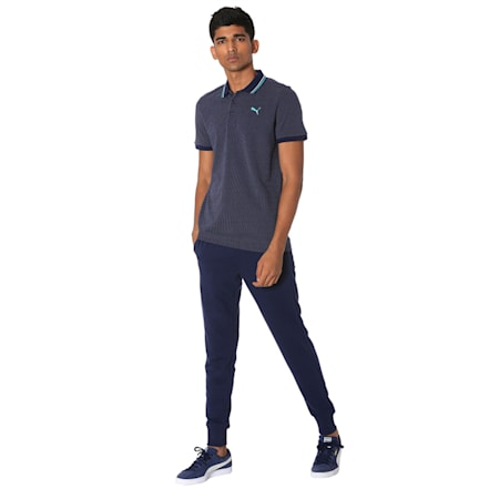 Men's Jacquard Polo 3, Peacoat, small-IND
