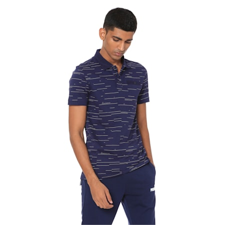 AOP Polo 1, Peacoat, small-IND