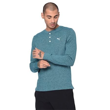 Henley Men's Sweatshirt, Gibraltar Sea, small-IND
