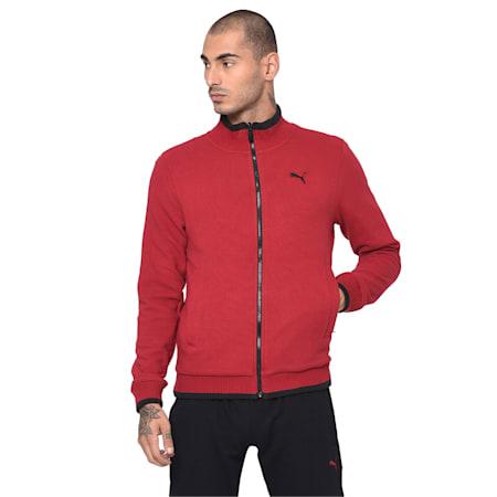 Reversible Men's Sweat Jacket, Puma Black, small-IND