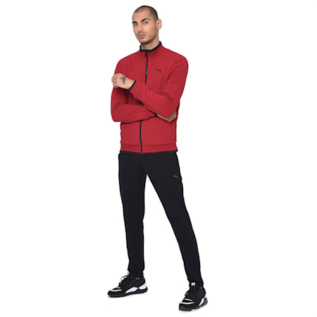Reversible Men's Sweat Jacket, Puma Black, small-IND