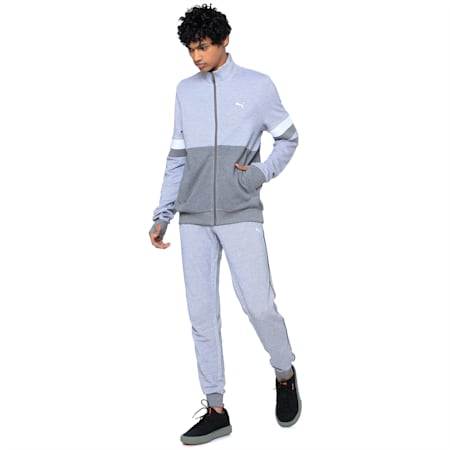 Stylized Sweat Jacket, Medium Gray Heather, small-IND
