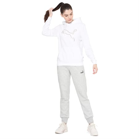 Double Cat Foil Hoody, Puma White, small-IND
