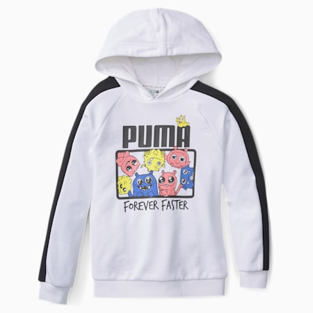 Monster Kids' Hoodie, Puma White, small