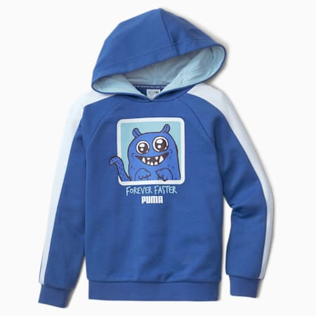 Sweatshirt à capuche Monster pour enfant, Bright Cobalt, small