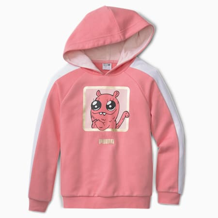Monster Kids' Hoodie, Peony, small